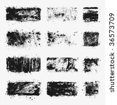a set of dirty vector textures... | Shutterstock .eps vector #36573709