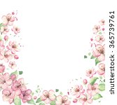 spring border background with... | Shutterstock . vector #365739761