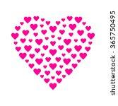pink heart | Shutterstock .eps vector #365750495