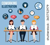 concept of the coworking center.... | Shutterstock .eps vector #365752979