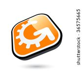 modern engineering arrow sign   Shutterstock .eps vector #36575665