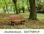 Wooden Bench In The Quiet City...