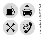 gas station  service icons set | Shutterstock .eps vector #365759261