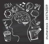 creativity themed doodle on... | Shutterstock .eps vector #365762009