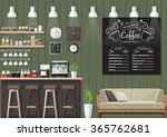 modern flat design coffee shop... | Shutterstock .eps vector #365762681