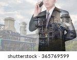double exposure of businessman... | Shutterstock . vector #365769599