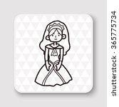 princess doodle | Shutterstock .eps vector #365775734