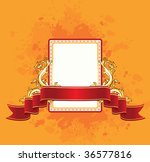 background with red ribbon ... | Shutterstock .eps vector #36577816
