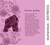 element yoga shankha mudra... | Shutterstock .eps vector #365780531