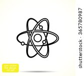 atom sign vector icon | Shutterstock .eps vector #365780987