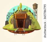 mining concept with retro... | Shutterstock .eps vector #365786795