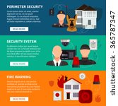 home security horizontal... | Shutterstock .eps vector #365787347