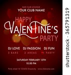 happy valentine's day party... | Shutterstock .eps vector #365791319