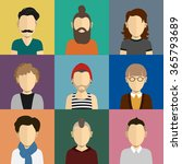 people icons set in flat style... | Shutterstock .eps vector #365793689