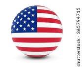 american flag ball   flag of... | Shutterstock . vector #365794715