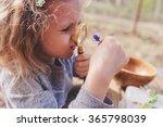 child girl exploring nature in... | Shutterstock . vector #365798039