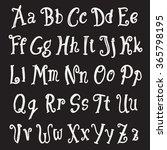 alphabet set. uppercase and...   Shutterstock .eps vector #365798195
