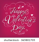 happy valentine's day vintage... | Shutterstock .eps vector #365801705