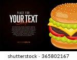 burger ingredients and burger... | Shutterstock .eps vector #365802167