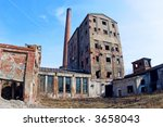 ruins of old factory | Shutterstock . vector #3658043