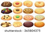 different kind of cookies... | Shutterstock .eps vector #365804375
