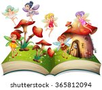 fairies flying around the... | Shutterstock .eps vector #365812094