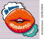 message on the lip  wonderful  | Shutterstock .eps vector #365815844