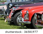 A Line Up Of Classic Old Cars