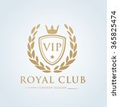vip royal club logo template | Shutterstock .eps vector #365825474