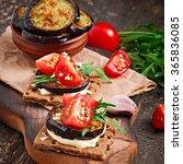 vegetarian diet crispbread...   Shutterstock . vector #365836085