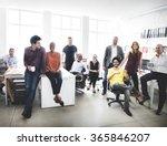cheerful collaboration... | Shutterstock . vector #365846207