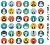 business people icons   set of...   Shutterstock .eps vector #365874059