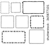 collection of hand drawn frames   Shutterstock .eps vector #365877101