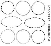 collection of simple doodle... | Shutterstock .eps vector #365877104