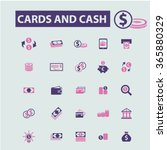 cards  cash  money  payment ... | Shutterstock .eps vector #365880329