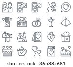 valentines day icon set... | Shutterstock .eps vector #365885681