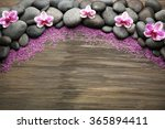 spa stones and orchid on wooden ... | Shutterstock . vector #365894411