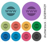color domain flat icon set on...