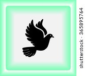 dove sign icon  vector... | Shutterstock .eps vector #365895764