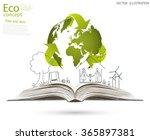 open book of happy family... | Shutterstock .eps vector #365897381