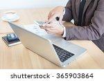 business man using internet on... | Shutterstock . vector #365903864