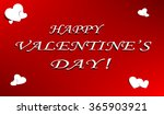 happy valentines day card... | Shutterstock .eps vector #365903921