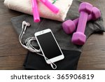 smart phone  sport clothes and... | Shutterstock . vector #365906819