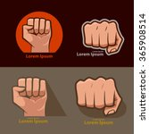 set of images  for logo  fist... | Shutterstock .eps vector #365908514