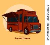 food truck emblem  festival ... | Shutterstock .eps vector #365908679