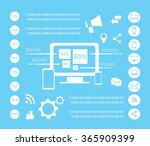 it infographic elements vector... | Shutterstock .eps vector #365909399