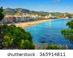 The beaches of Costa Brava in Lloret de Mar, Spain.