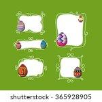 easter eggs doodle boder   Shutterstock .eps vector #365928905
