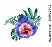 watercolor tropical flower | Shutterstock . vector #365929805