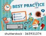 best practice concept....   Shutterstock .eps vector #365931374